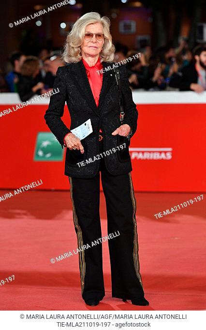 Marina Cicogna during the red carpet of film ' Il ladro di giorni ' at the 14th Rome Film Festival, Rome, ITALY-20-10-2019