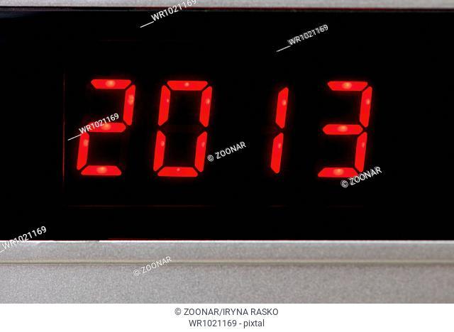 Digital 2013 new year calendar