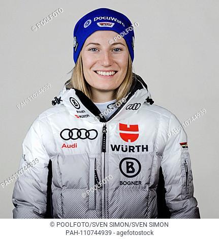 Lena DUERR (Alpine Skiing), single image, single image, portrait, portraits, season 2018/19. German Ski Association, DSV, Athlete and Supervisor Portraits