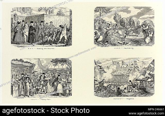 May – Beating the Bounds from George Cruikshank's Steel Etchings to The Comic Almanacks: 1835-1853 (top left) - 1837, printed c