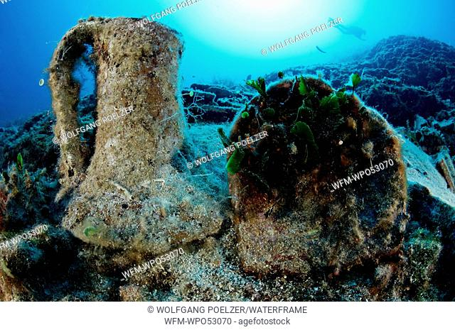 Scuba Divers discover amphoras, Kornati, Adriatic Sea, Croatia