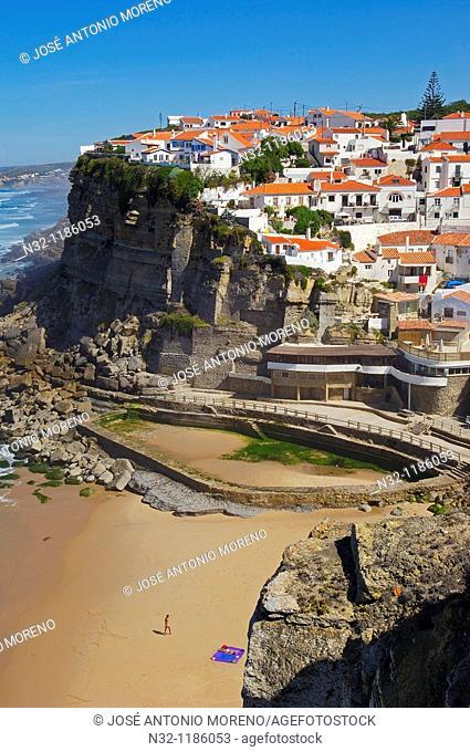 Azenhas do Mar, Lisbon district, Sintra coast, Portugal, Europe