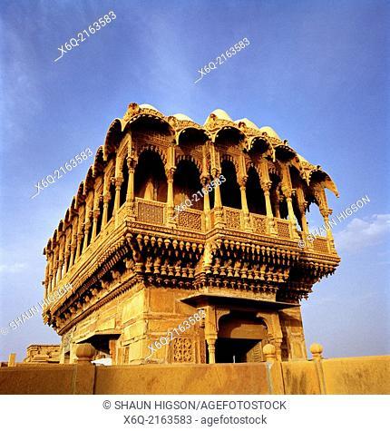 Salim Singh Ki Haveli in Jaisalmer in Rajasthan in India