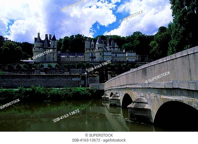 FRANCE, LOIRE REGION, NEAR CHINON, USSE CHATEAUX, VIEW OF OF CASTLE
