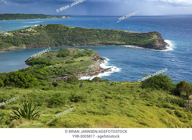 Approaching storm along the southeast coast of Antigua at Shirley Heights, Antigua and Barbuda, West Indies