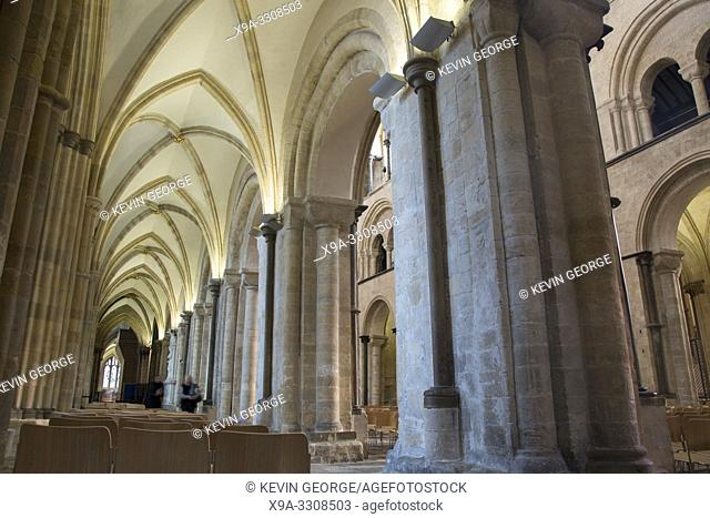 Nave of Chichester Cathedral Church, UK
