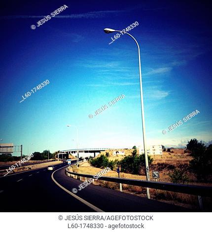 M-40 road in Madrid, Spain