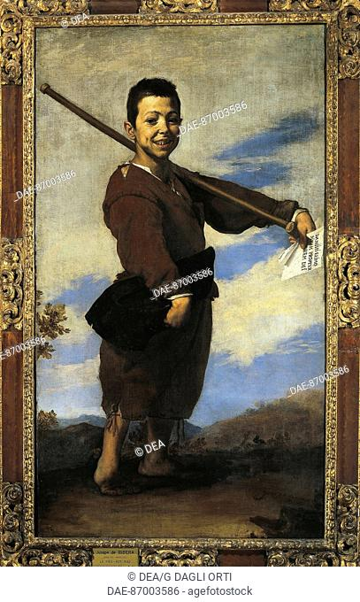 Jusepe de Ribera (Lo Spagnoletto, 1591-1652), The Cripple, 1642.  Paris, Musée Du Louvre