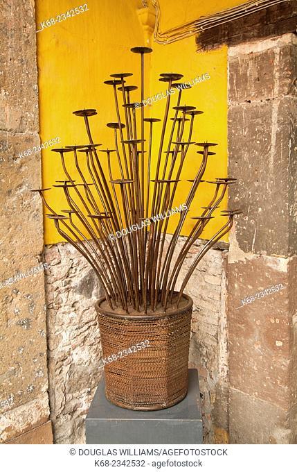 Candle holder in San Miguel de Allende, Mexico