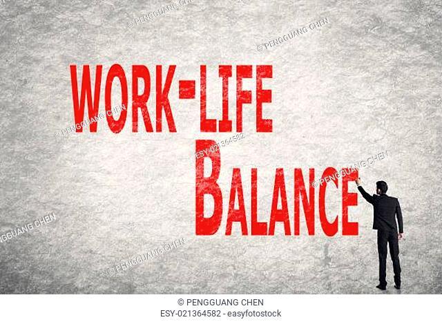 write words on wall, Work-Life Balance