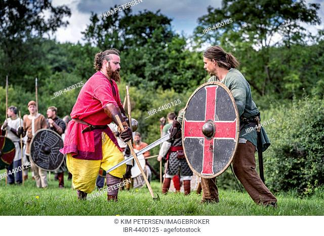 Viking battle, Mosegaard Beach, Aarhus, Denmark