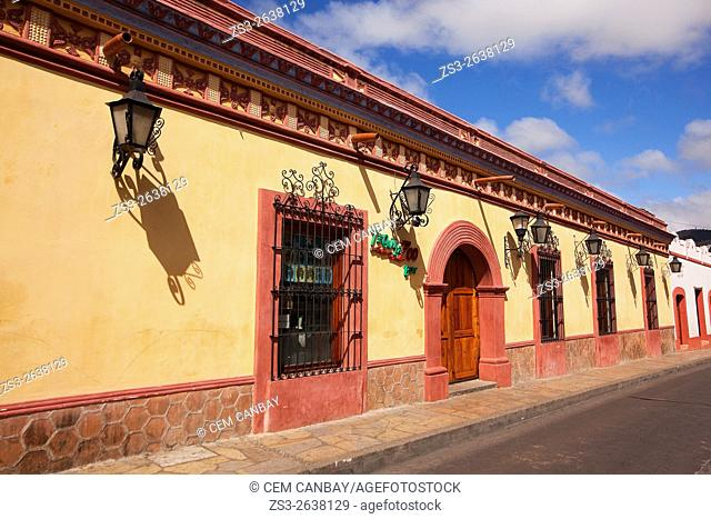 Colonial buildings at the historic center, San Cristobal de las Casas, Chiapas State, Mexico, North America