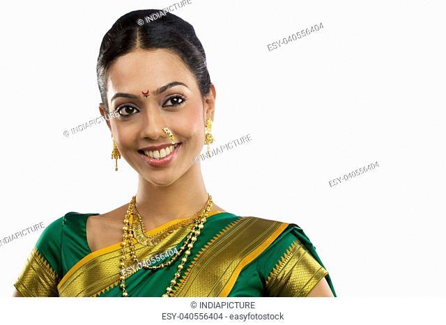 Portrait of a Maharashtrian woman