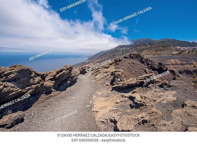 San Antonio volcano in La Palma island, Canary islands, Spain