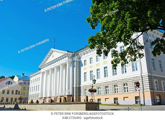 Tartu ulikooli Peahoone, main university building, old town, Tartu, Estonia, Baltic States, Europe