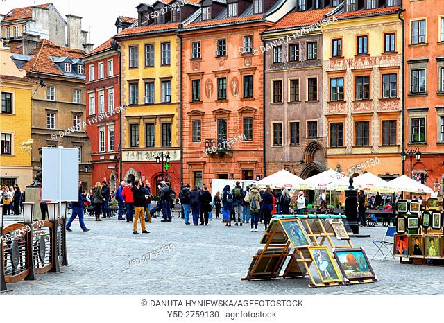 Old Town Market Place, Kollataja side - Strona Kollataja, Old Town of Warsaw, UNESCO Heritage, Poland , Europe