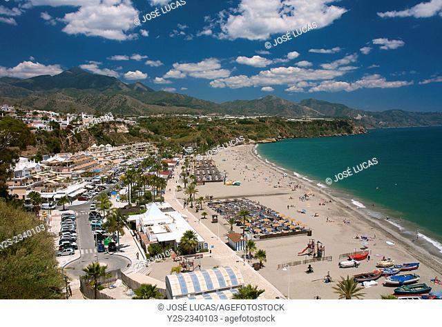 Burriana beach, Nerja, Malaga province, Region of Andalusia, Spain, Europe