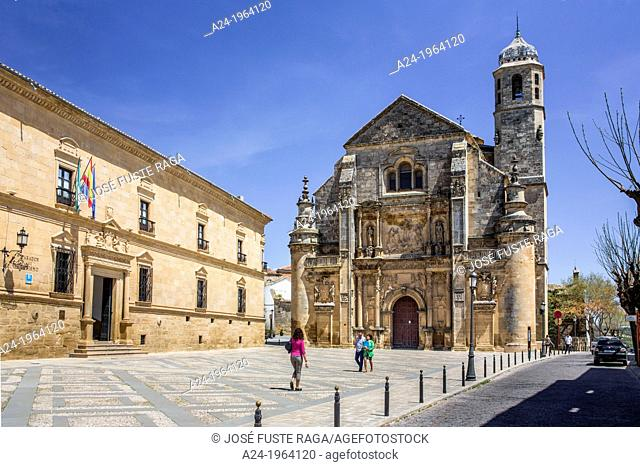 Spain , Andalucia Region,, Jaen Province,Ubeda City (W.H.), Vazquez de Molina Square, Holly Church of the Savior (Iglesia del Salvador)