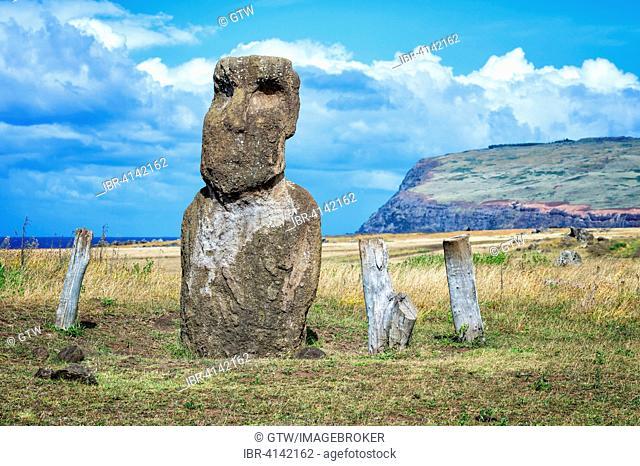 Vaihu Moai, Unesco World Heritage Site, Rapa Nui National Park, Easter Island, Chile