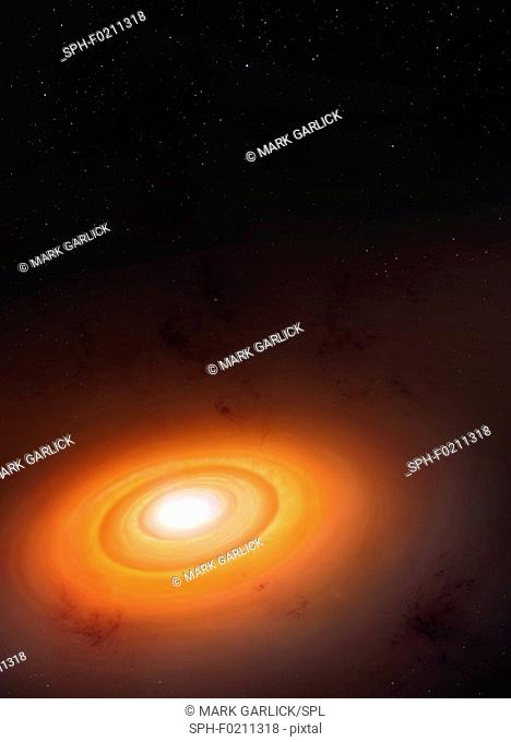 Solar system formation, illustration