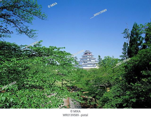 Aizuwakamatsu Castle, Aizuwakamatsu, Fukushima, Japan