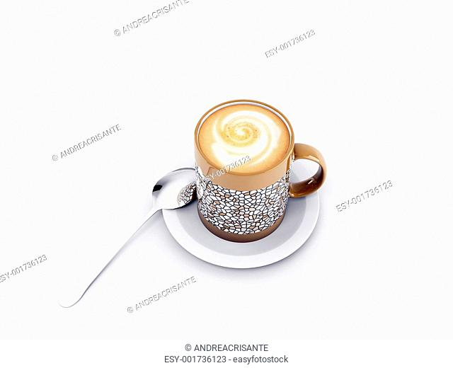 coffe cup isolated on white background
