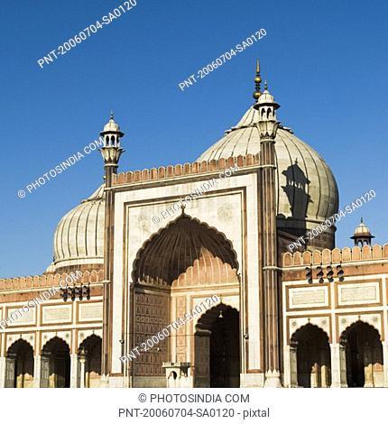 Facade of a mosque, Jama Masjid, New Delhi, India