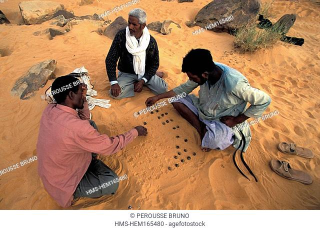 Mauritania, Adrar region, stop during a trekking in Chinguetti area