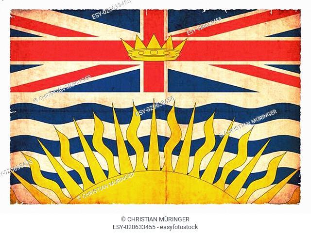 Grunge-Flagge British Columbia (Kanadische Provinz)