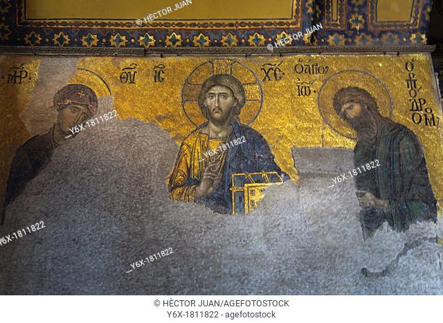 The Deësis mosaic with Christ