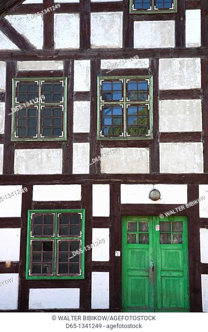 Lithuania, Western Lithuania, Klaipeda, Old Town, half-timbered house on Sukileliu Street