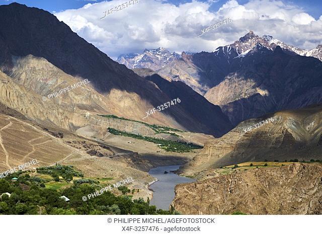 Tadjikistan, Asie centrale, Gorno Badakhshan, Haut Badakhshan, le Pamir, vallée de la rivière Panj qui sépare le Tadjikistan et l'Afghanistan