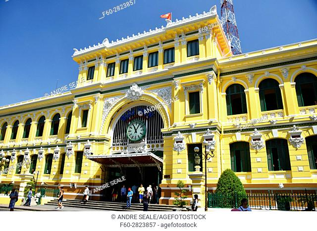 Post Office Building, designed by Gustave Eiffel, Ho Chi Minh City, Vietnam