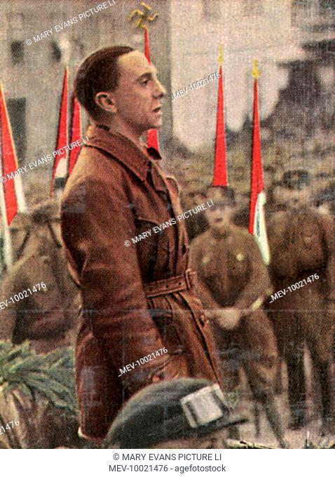 PAUL JOSEPH GOEBBELS German statesman, circa 1933