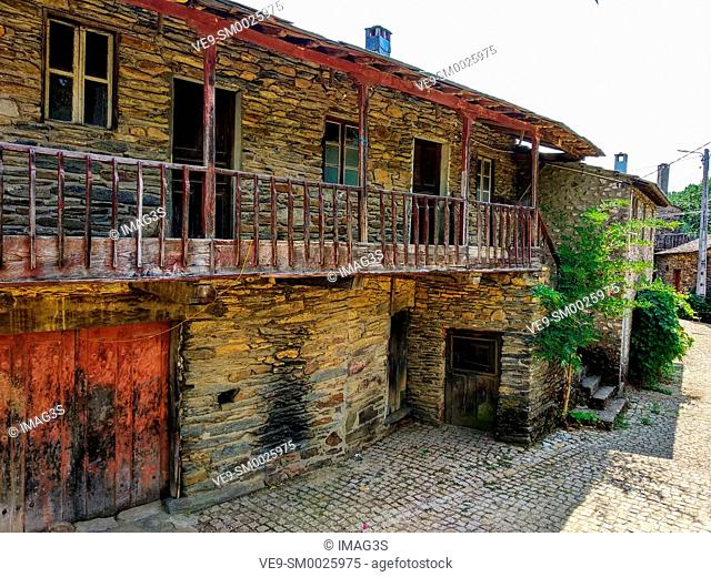 Rio de Onor, ancient village on the banks of the Onor River, in Braganca, Portugal