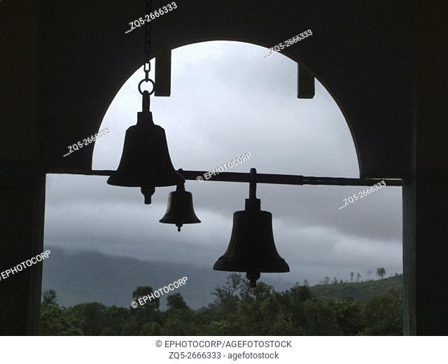 Bells of thunder at Pali temple, Pali, Maharashtra, India