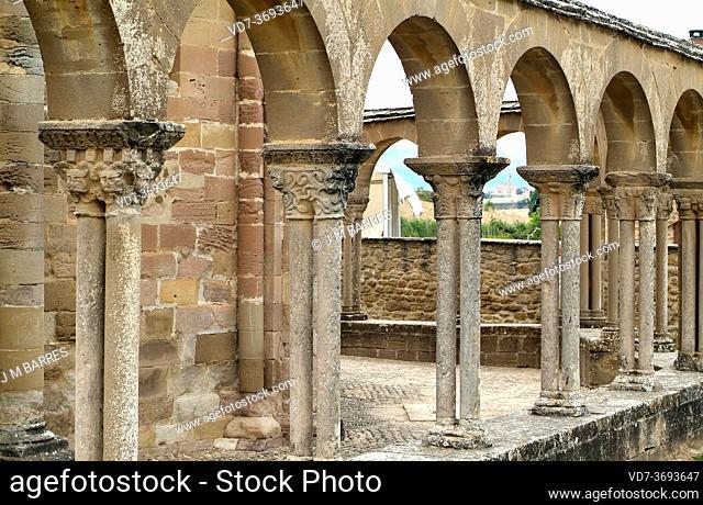 Santa Maria de Eunate church (romanesque 12th century). Muruzabal, Navarra, Spain