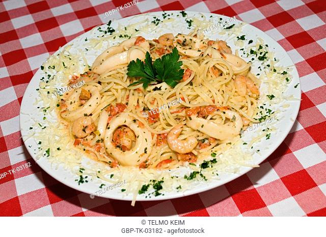 Pasta with seafood, Brazil