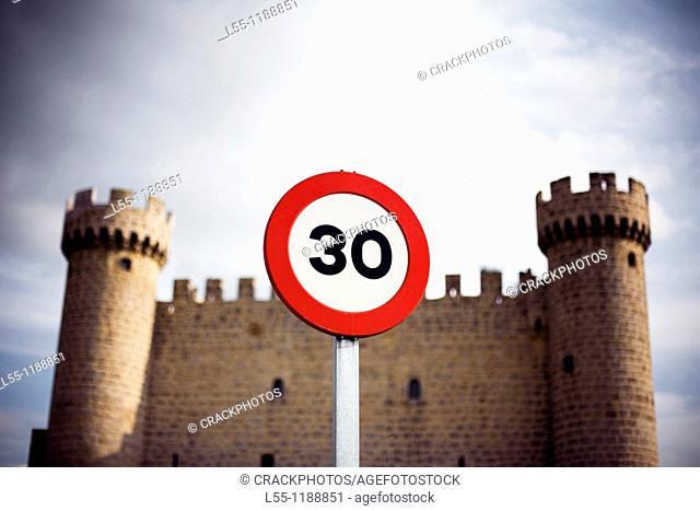 Castle, Olmillos de Sasamon, Burgos province, Castilla-Leon, Spain