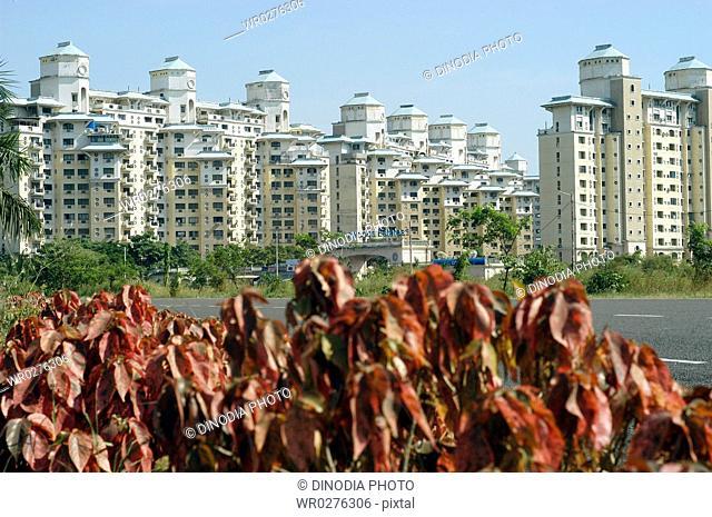 Non Resident Indian Complex NRI complex named Sea Woods Estate on Palm Beach Road at Navi Mumbai , New Bombay Mumbai , Maharashtra , India