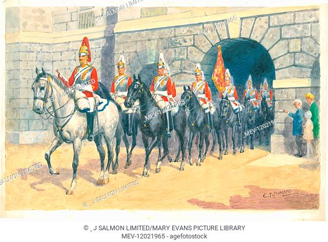 2nd Life Guards at Horse Guards, London Pageantry by Charles Howard