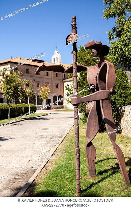Monastery of Santa María de la Bretonera in Belorado village in the Way of St. James, Burgos, Spain