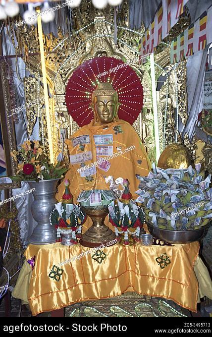 Myanmar: Bagan- One of the Buddha temple on Mount Popa