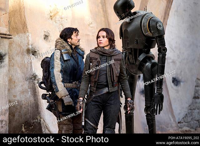 Rogue One: A Star Wars Story Year : 2016 USA Director : Gareth Edwards Felicity Jones, Diego Luna, Alan Tudyk  Restricted to editorial use