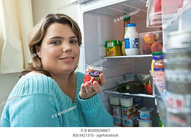 WOMAN, DAIRY PRODUCT