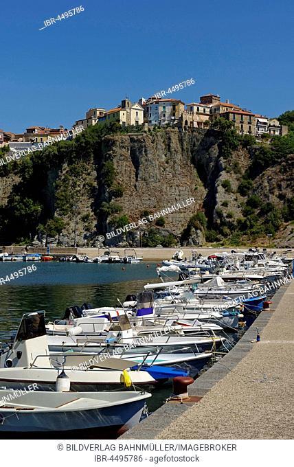 Boats in the harbour, Agropoli, Cilento National Park, Parco Nazionale Cilento, Vallo Diano e Alburni, Province of Salerno, Campania, Italy