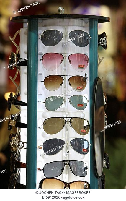 Booth with sunglasses, Grand Bazaar or Covered Bazaar, covered market with goods of all sorts, Istanbul, Turkey