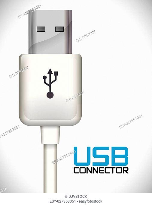 usb connection design, vector illustration eps10 graphic