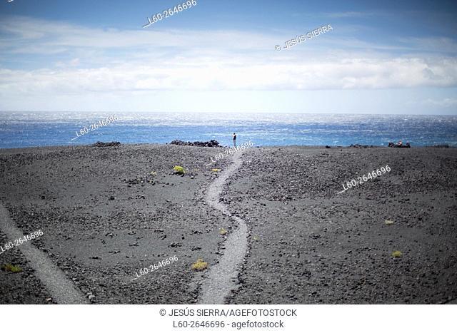 Playa nueva near Fuencaliente lighthouse. , la Palma, Canary islands, Spain