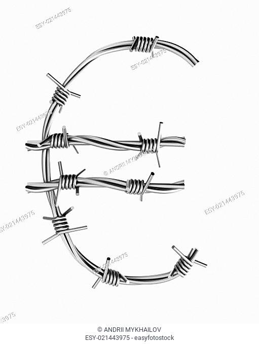 Barbed wire alphabet, euro symbol